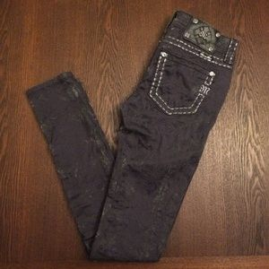 *Miss Me python print skinny cargo stretch jeans